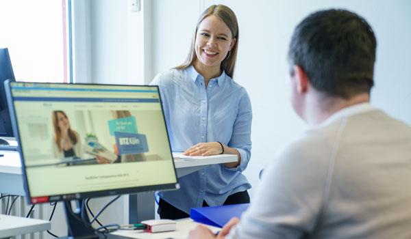 Der Trainingsbereich Digital und mehr im BTZ Köln bietet zeitgemäße und zukunftsweisende Handlungsfelder der digitalen Wirtschaft.