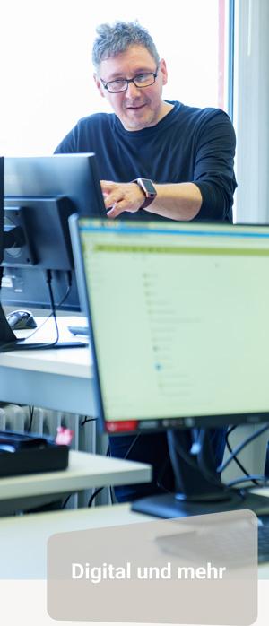 Die täglichen Aufgaben umfassen z.B. Virtual Reality, Internet of Things und Kommunikation/Vernetzung.